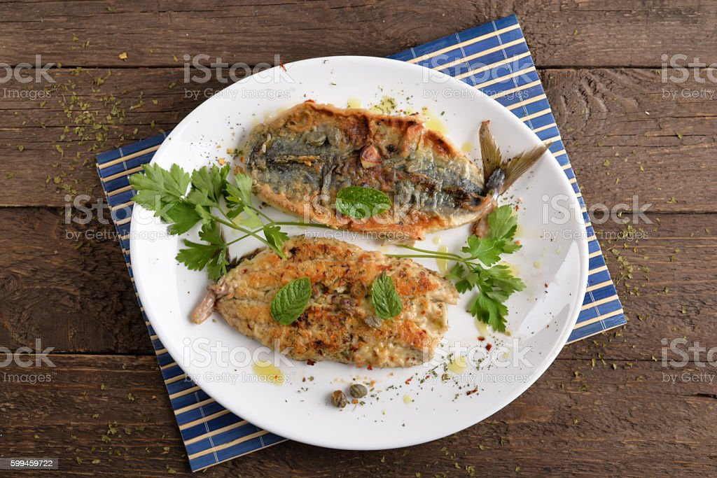 Grilled tuna flavored dish of stock photo