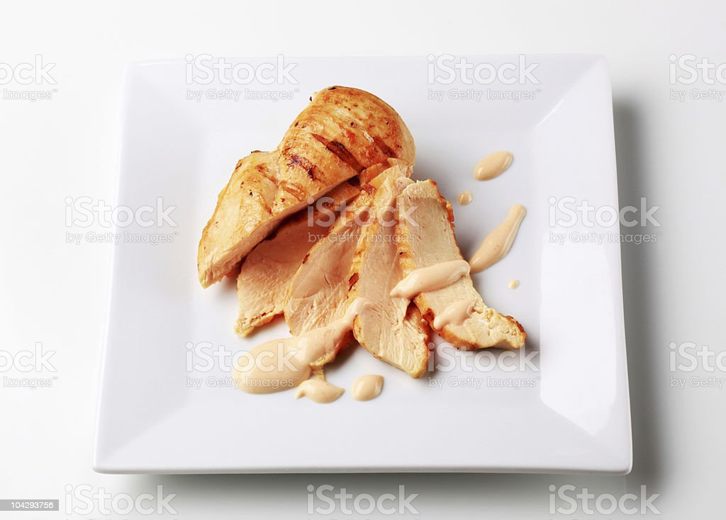 Grilled turkey breast royalty-free stock photo