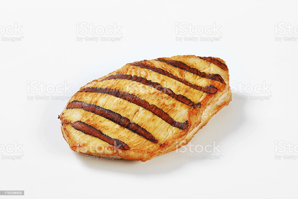 Grilled turkey breast steak royalty-free stock photo