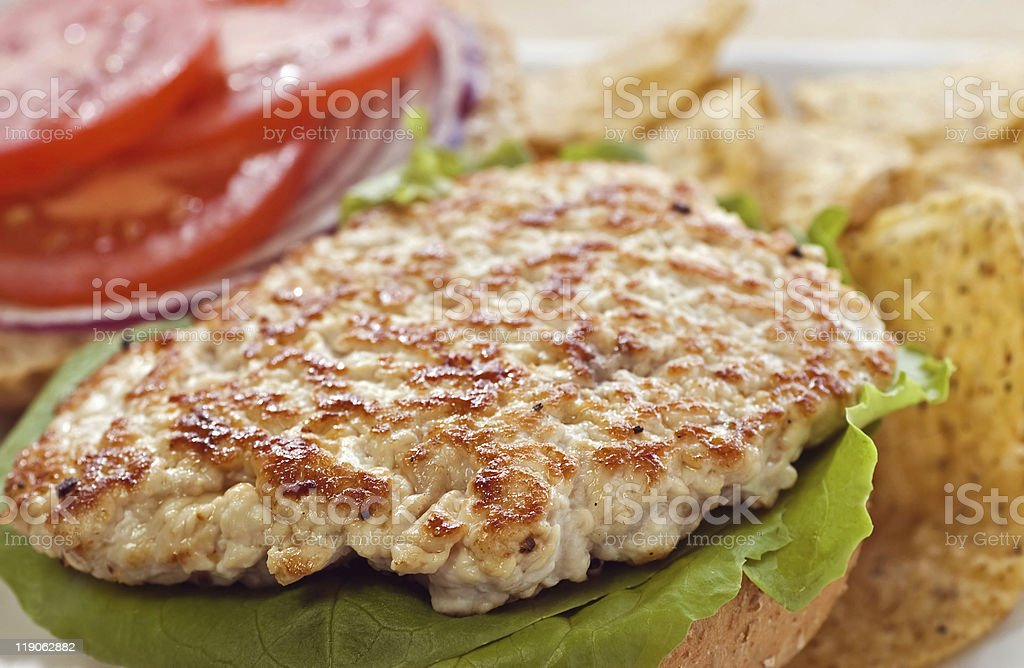 Grilled Turkey cutlet tenderized stock photo