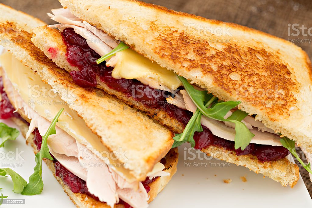 Grilled Turkey Sandwich stock photo