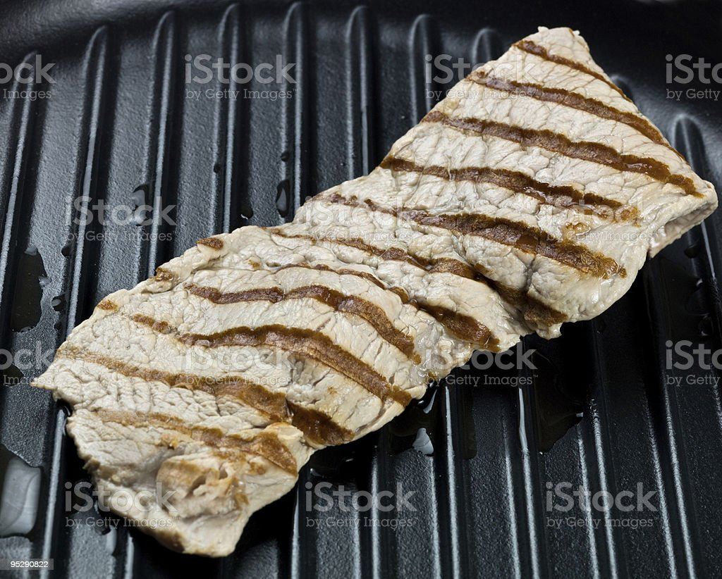 Grilled Veal Escalope stock photo