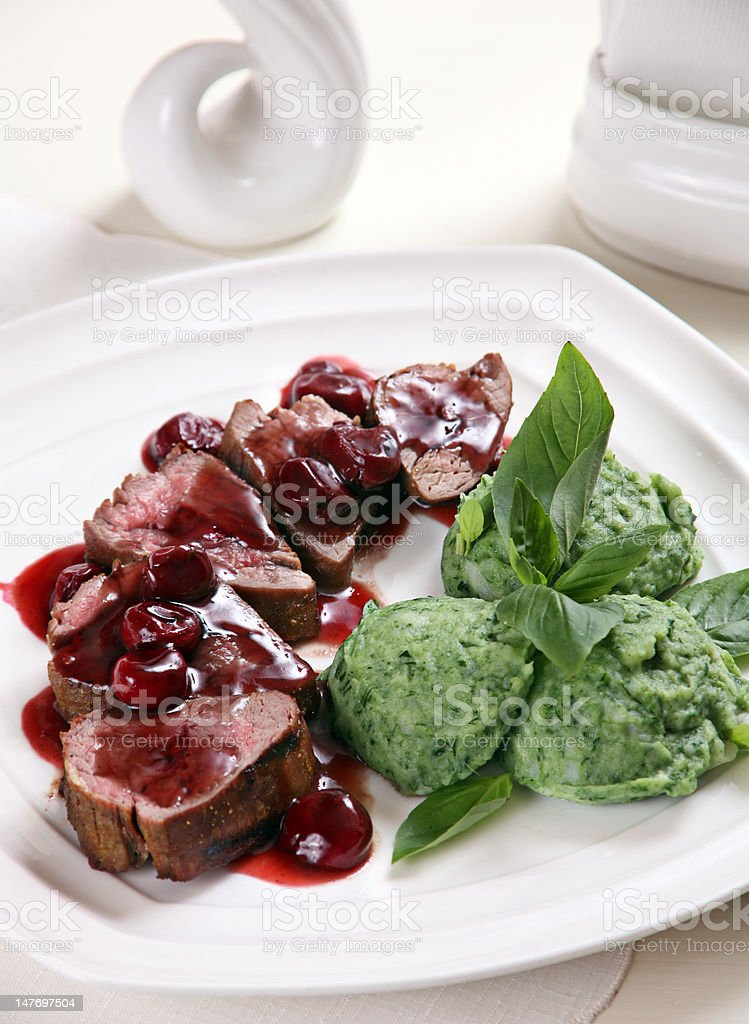Grilled veal meat royalty-free stock photo