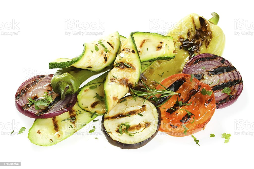Grilled vegetable royalty-free stock photo