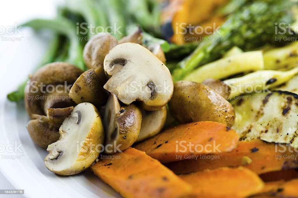 Grilled Vegetable Platter royalty-free stock photo