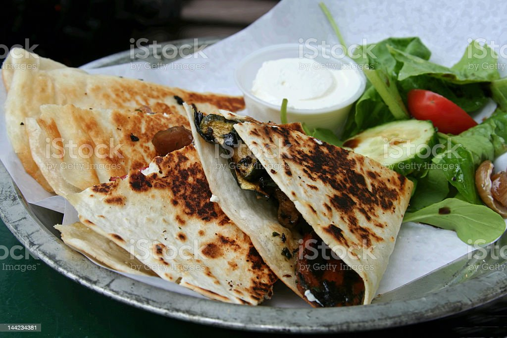 Grilled Vegetable Wrap royalty-free stock photo