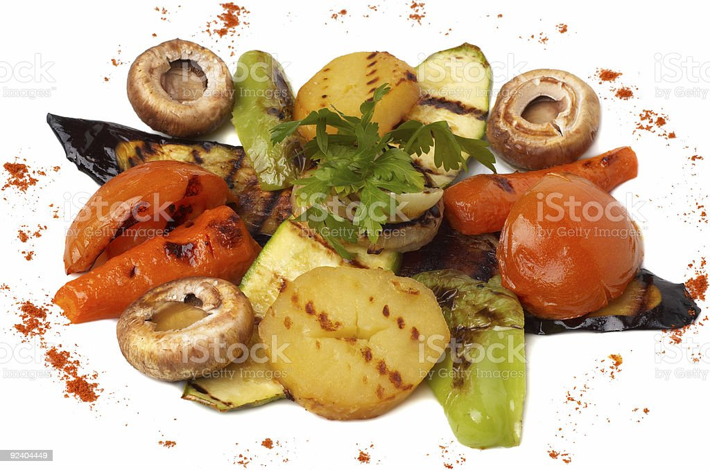 grilled vegetables dish royalty-free stock photo