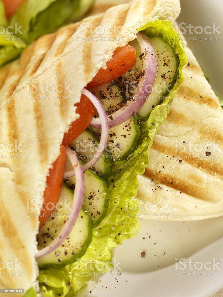 Grilled Vegetarian Panini royalty-free stock photo