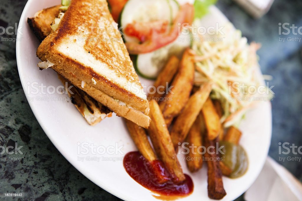 grilled veggie sandwich stock photo