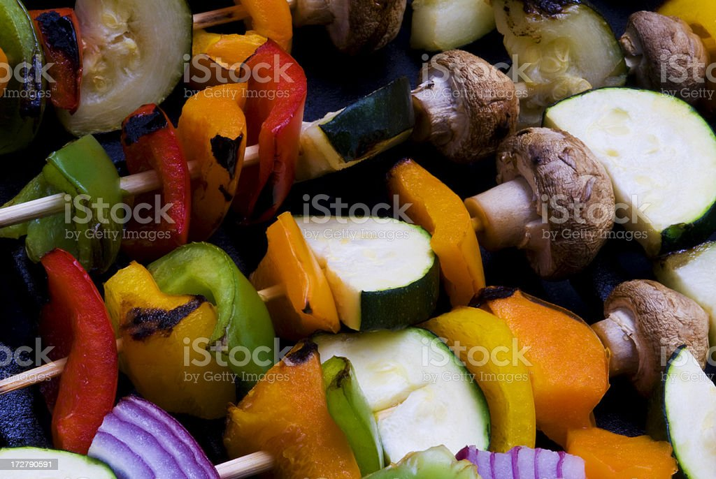 Grilled Veggies on Skewers royalty-free stock photo
