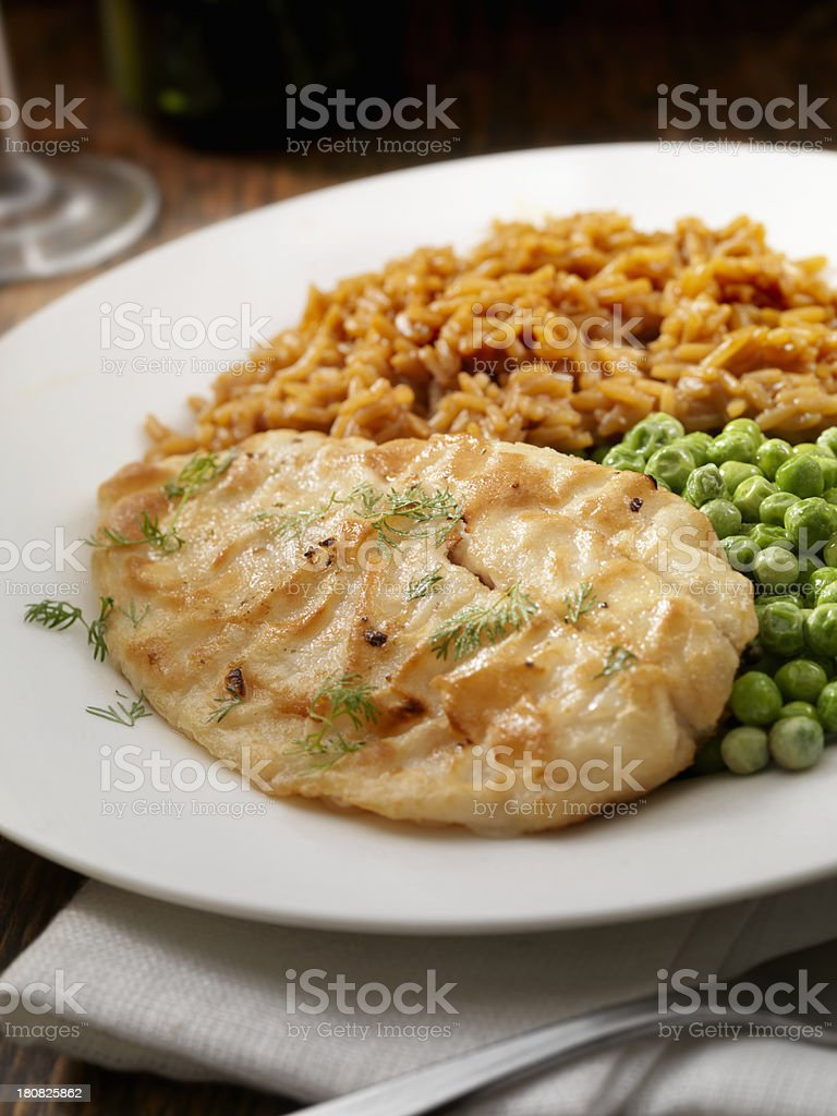 Grilled White Fish royalty-free stock photo