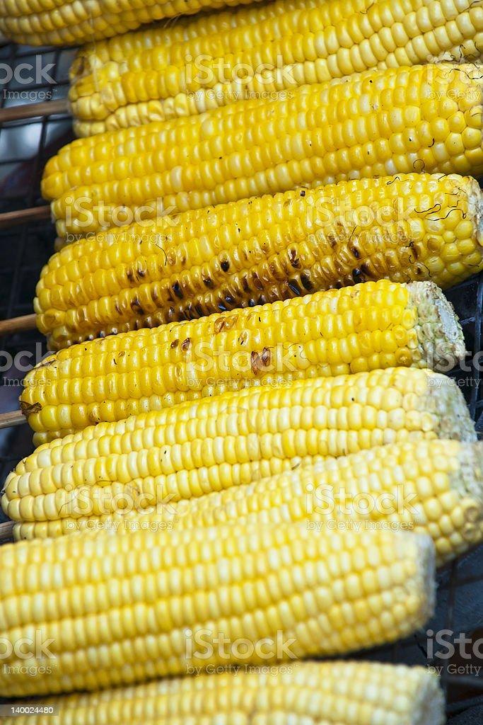 Grillowany żółty Kukurydza zbiór zdjęć royalty-free