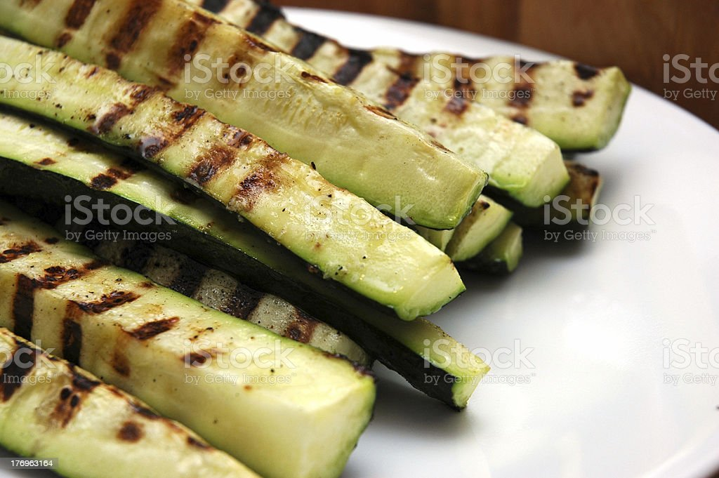 Grilled Zucchini royalty-free stock photo
