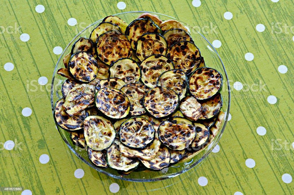 Grilled zucchini stock photo