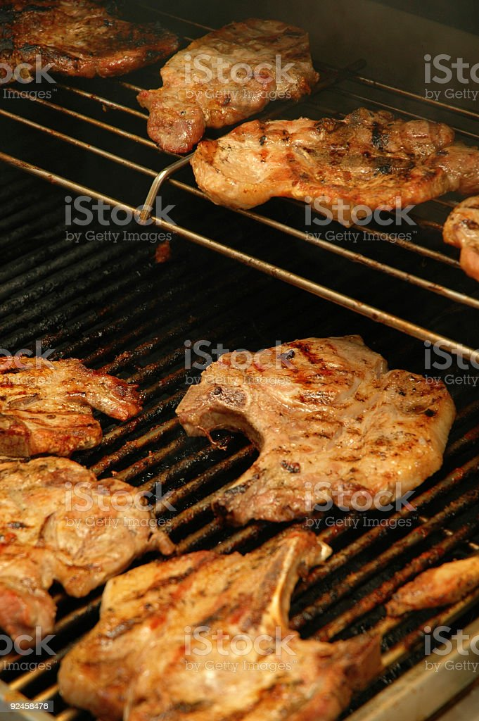 grilling 1 stock photo