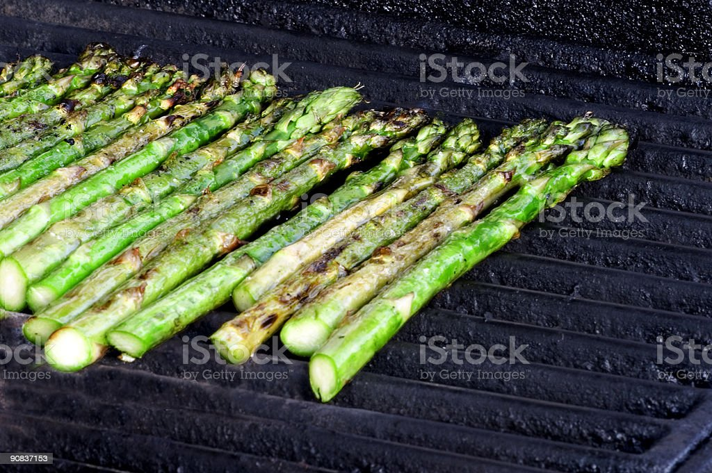 Grilling Asparagus royalty-free stock photo