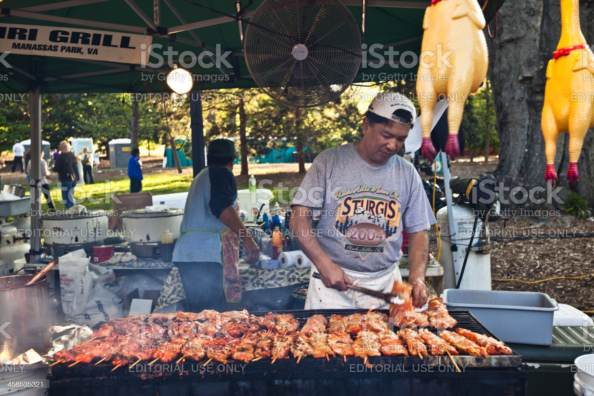 Grilling at the Dogwood Festival royalty-free stock photo