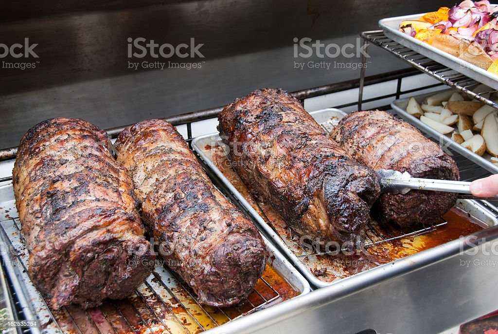 Laminado asar carnes asadas de carne de res foto de stock libre de derechos