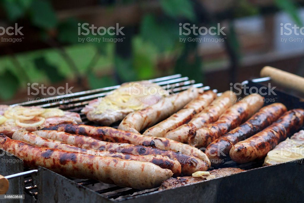 Grillwürstchen stock photo