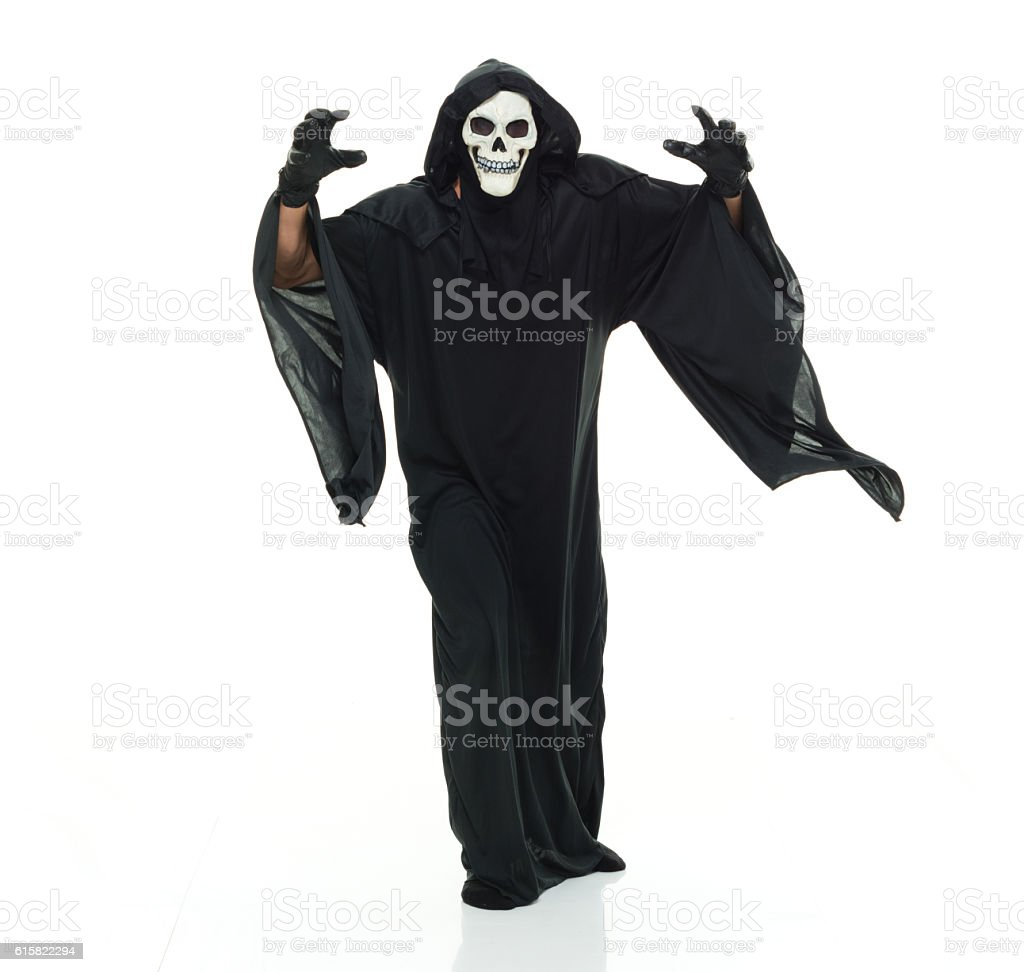 Grim reaper showing a horror activity stock photo