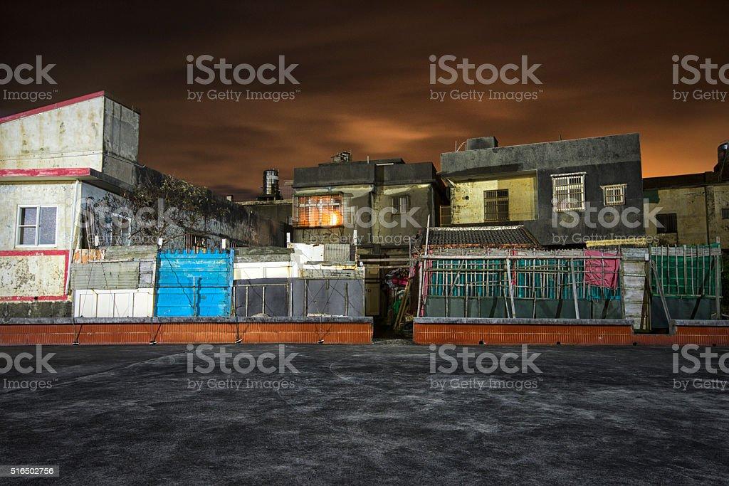 Grim Slums stock photo