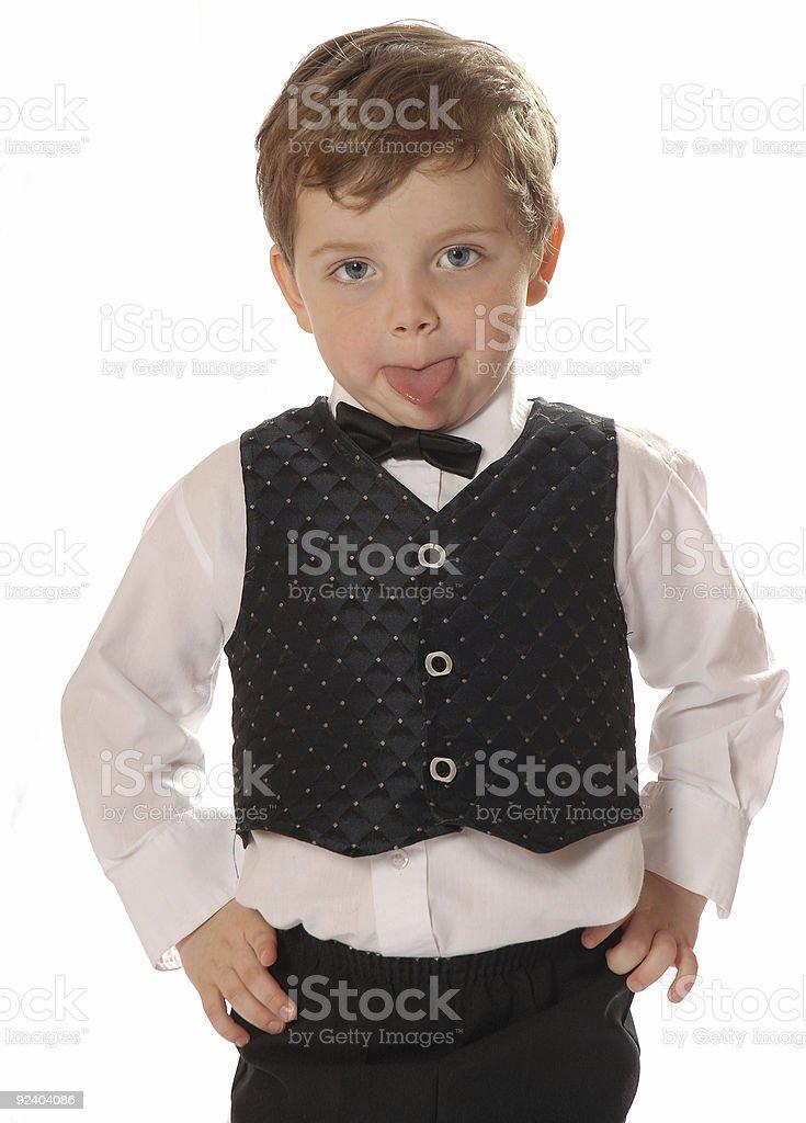 Grimacing boy royalty-free stock photo