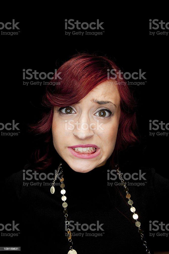 Grimacing Girl stock photo