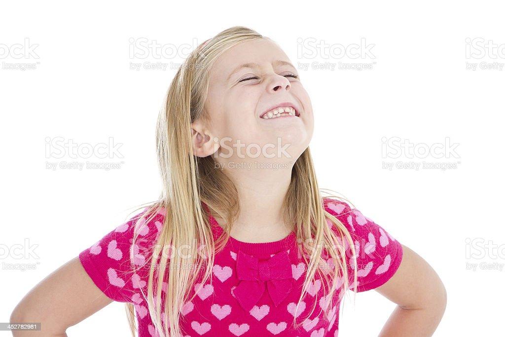 Grimacing little girl royalty-free stock photo