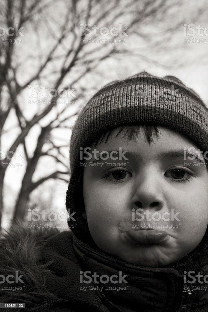 Grimacing stock photo