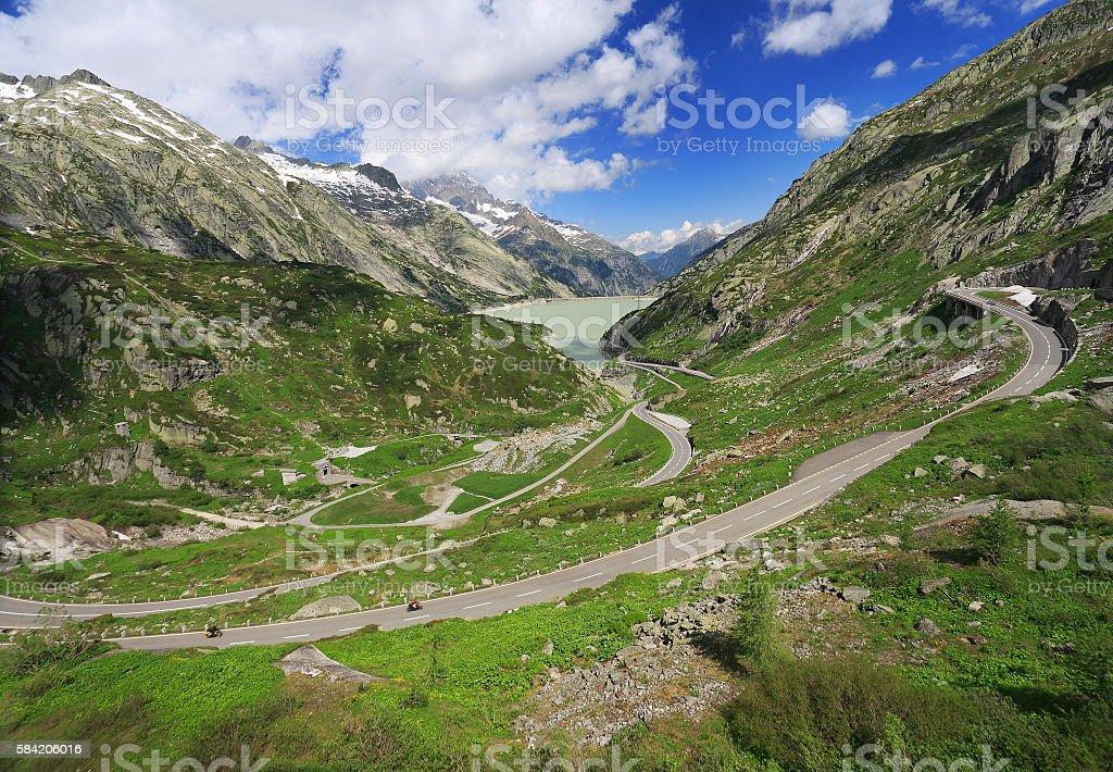 Grimsel Pass, Alps Mountains, Switzerland stock photo