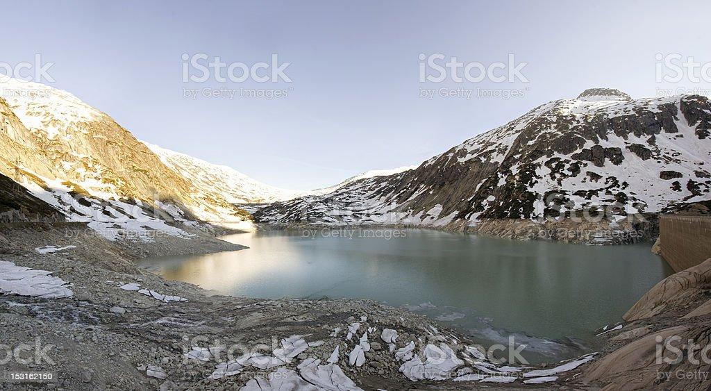 Grimsel Pass Dam Switzerland royalty-free stock photo