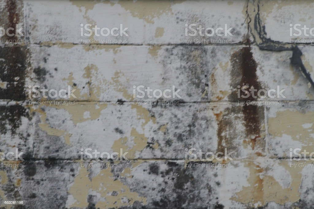 Grimy Grungy Cinder Block Wall Texture stock photo