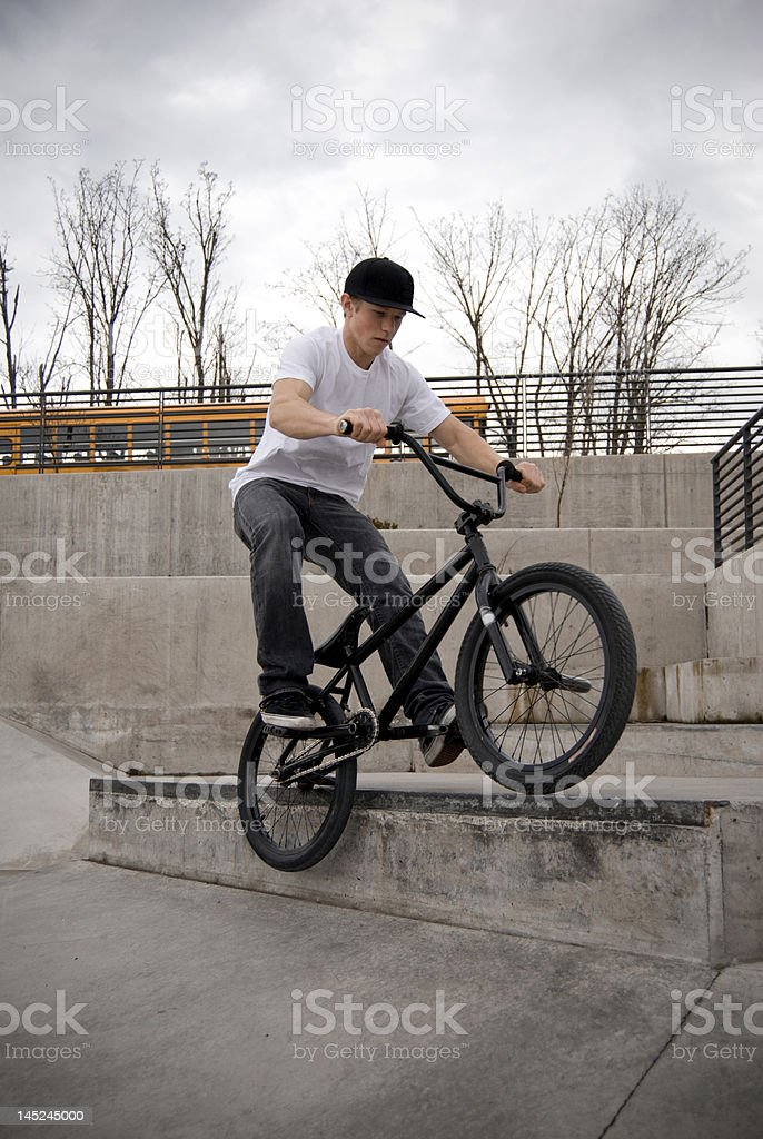 BMX Grind royalty-free stock photo