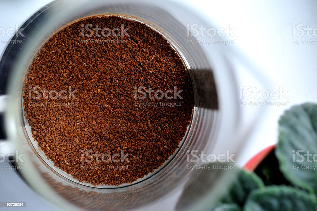 Grinded coffee stock photo