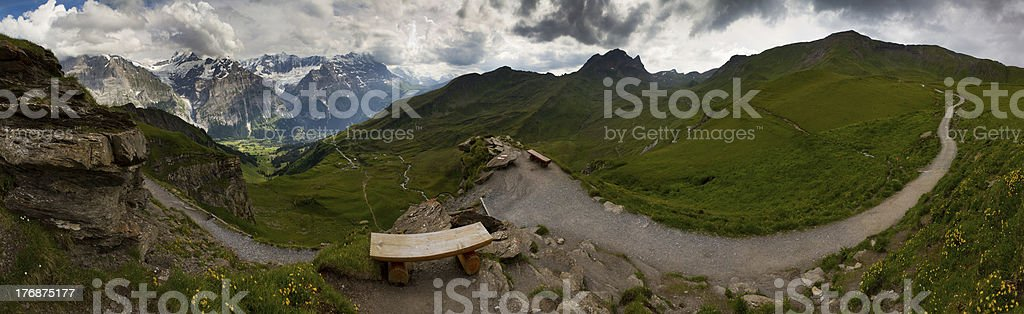 Grindelwald - First panorama royalty-free stock photo