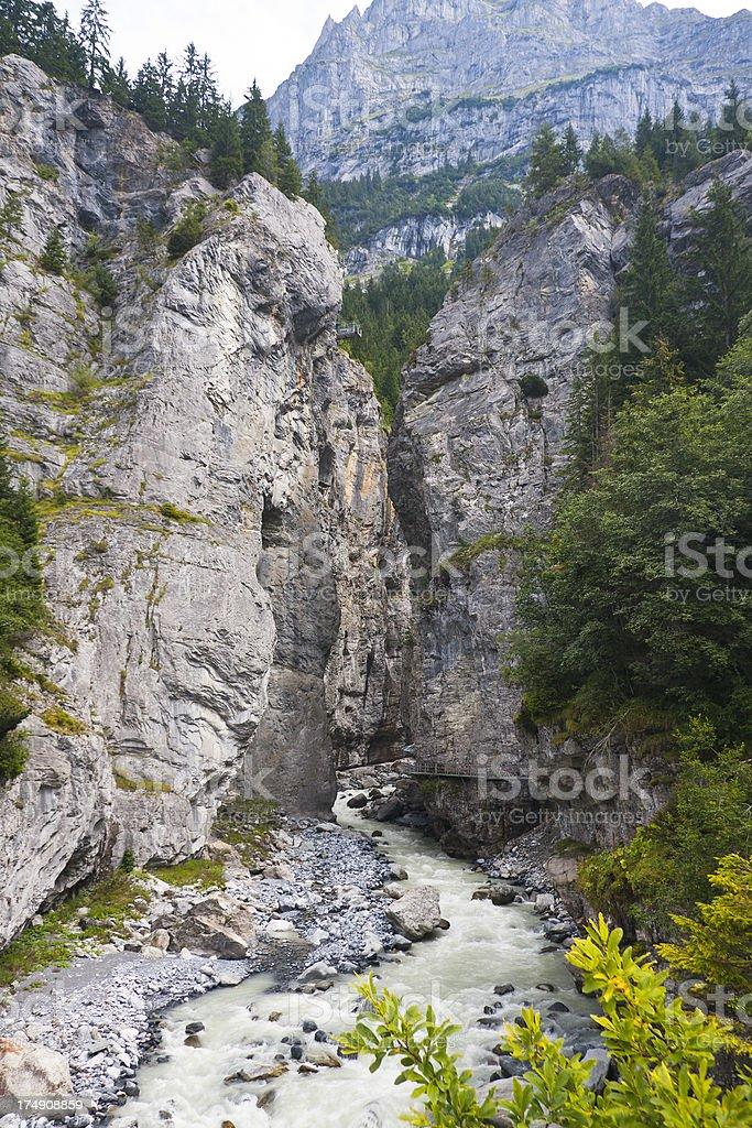 Grindelwald Glacier Gorge Entrance, Swiss Alps stock photo