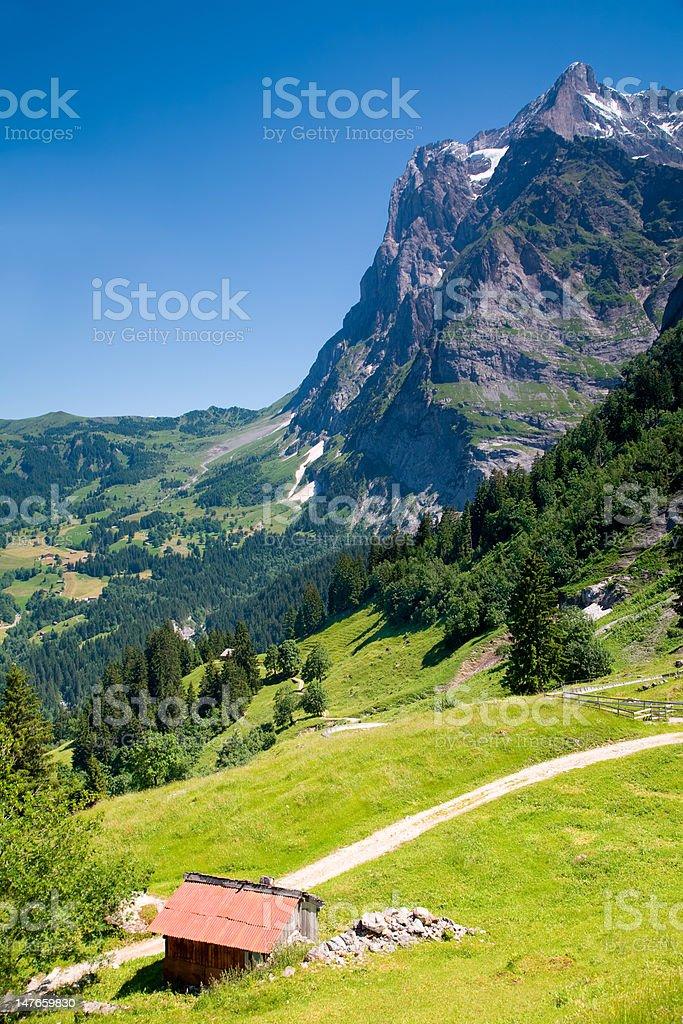 Grindelwald in Bern Canton Switzerland royalty-free stock photo