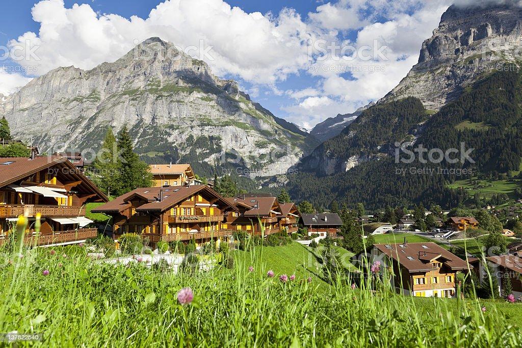 Grindelwald village, Switzerland royalty-free stock photo