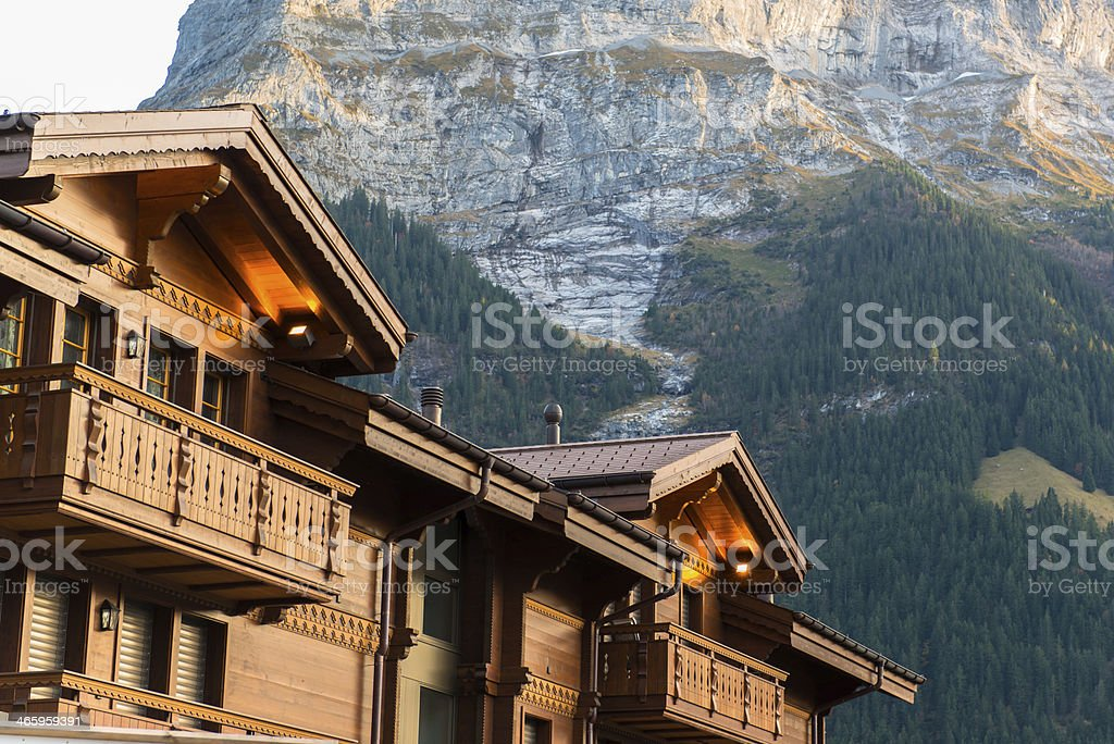 Grindelwald Village, Switzerland stock photo