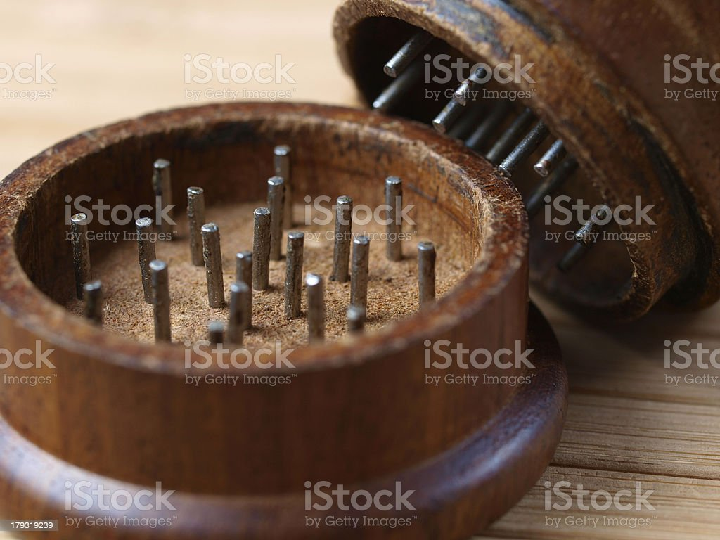 Grinder marihuana detail stock photo
