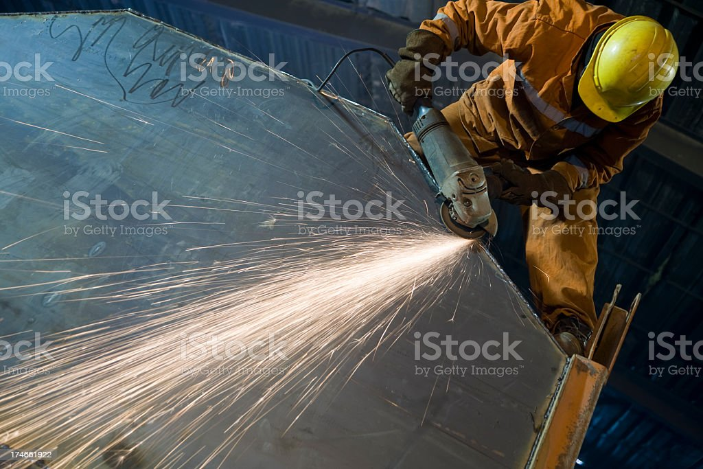 Grinder: sparks royalty-free stock photo