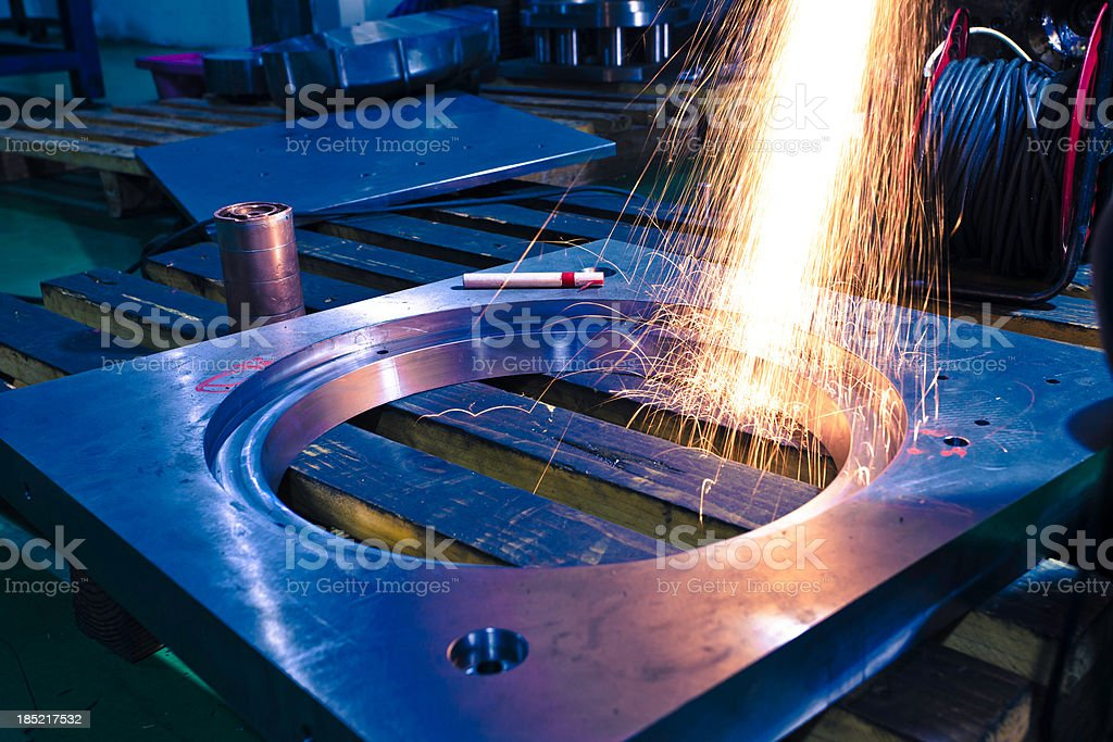 Grinder Working stock photo