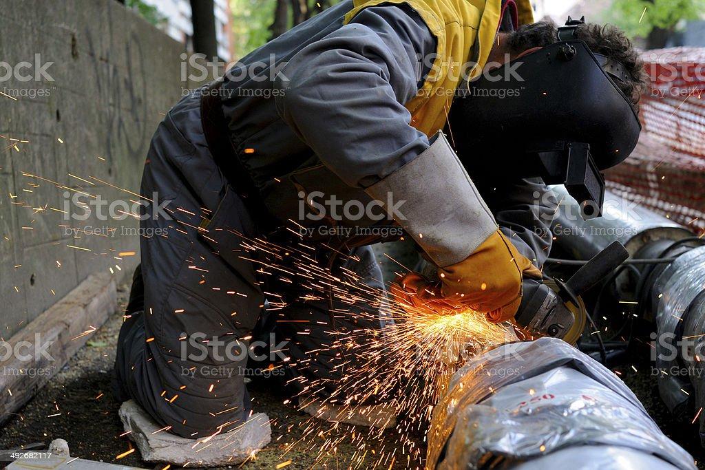Grinder's working stock photo