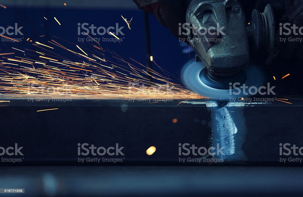Grinding and polishing stock photo