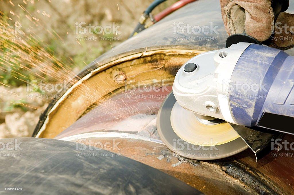 grinding construction equipment stock photo