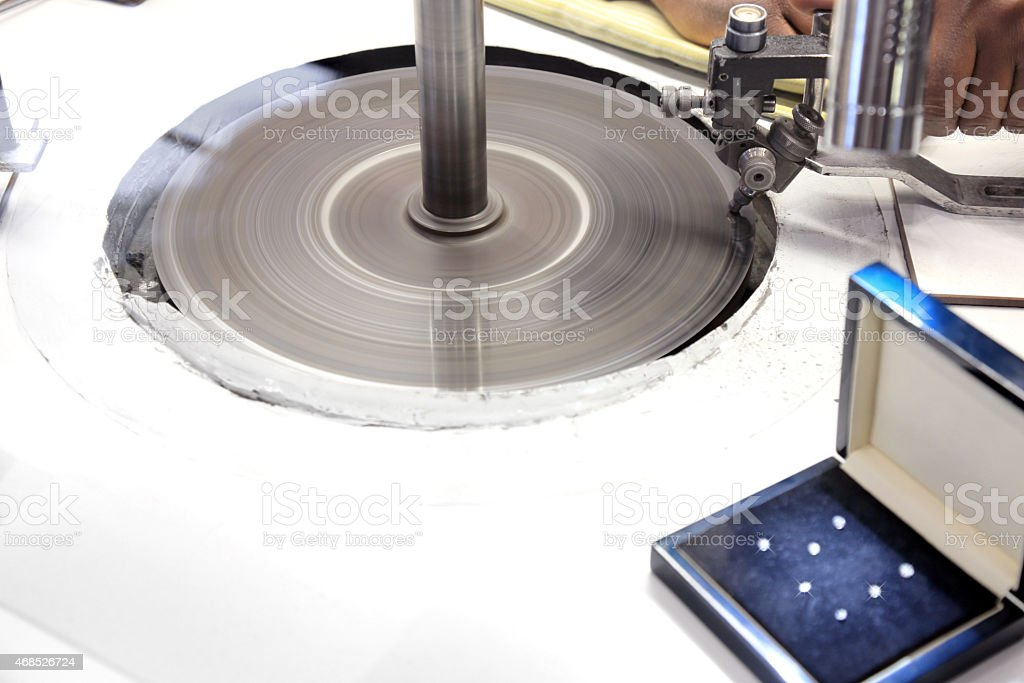 Grinding Diamonds stock photo