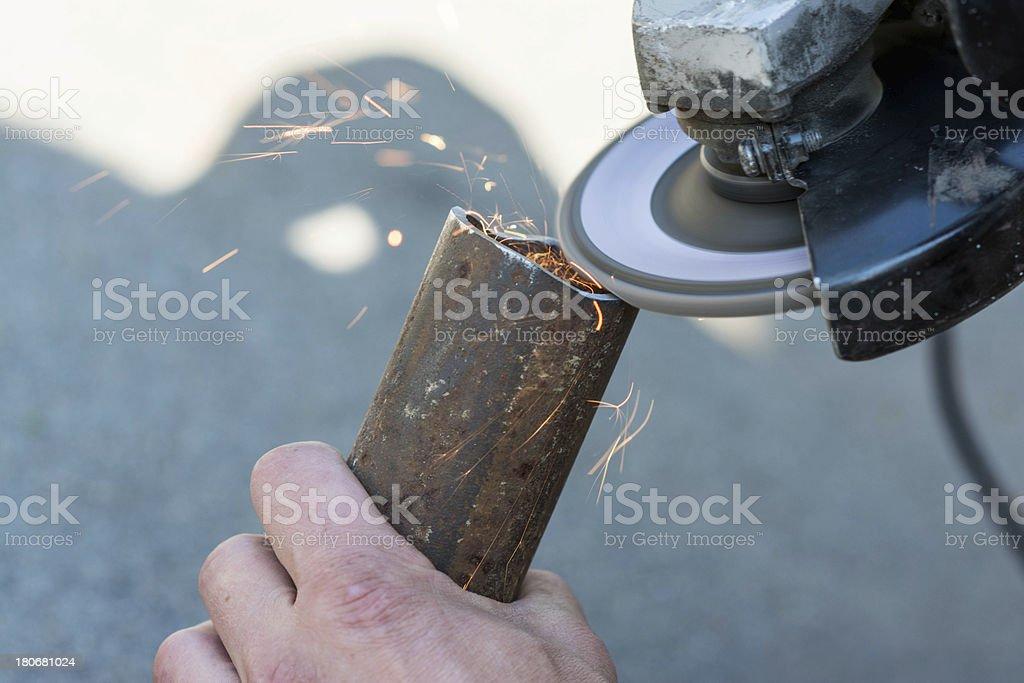 Grinding iron royalty-free stock photo