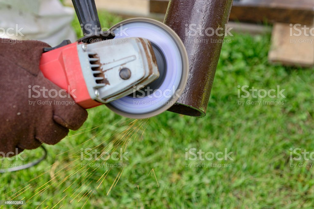 Grinding it out royalty-free stock photo