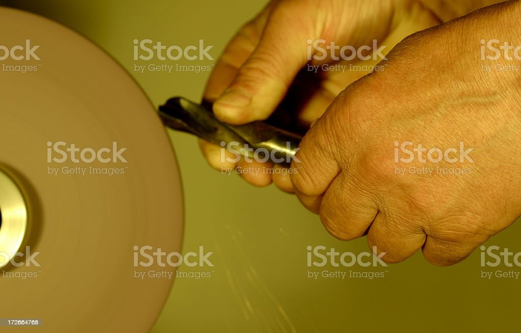 Grinding lathe royalty-free stock photo