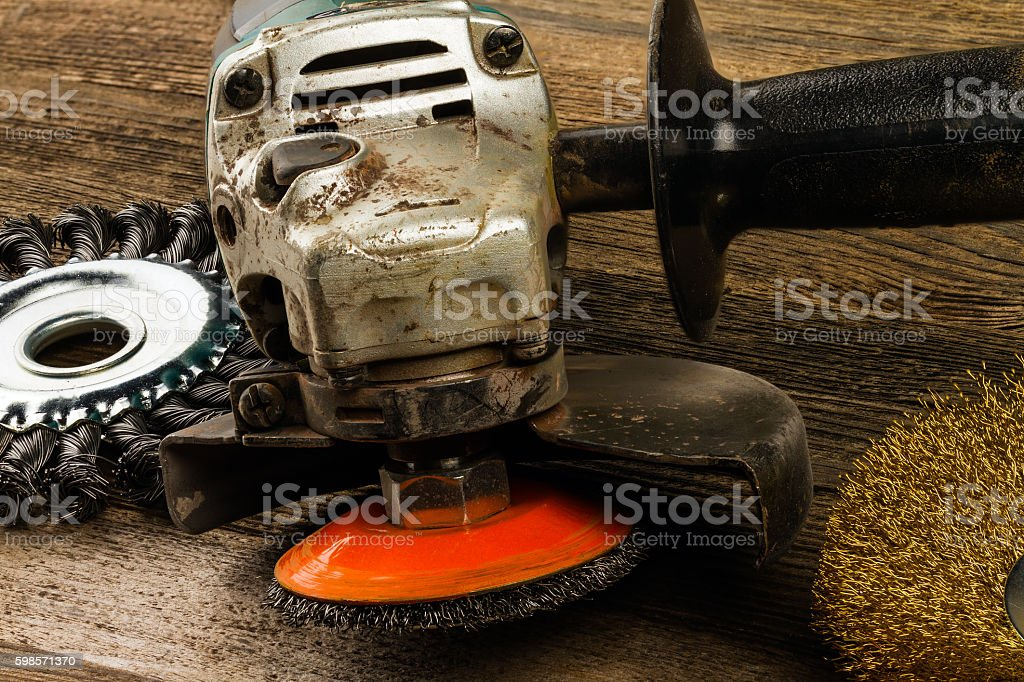 grinding machine stock photo